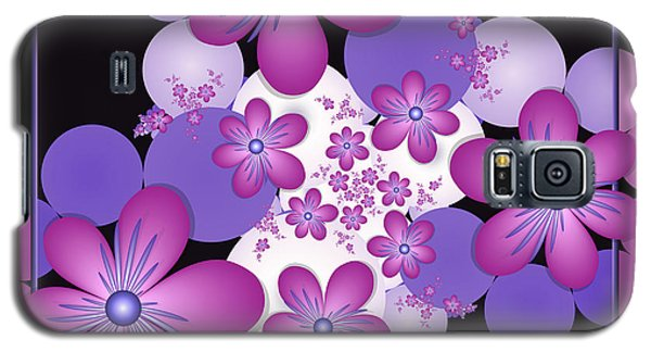 Fractal Flowers Modern Art Galaxy S5 Case