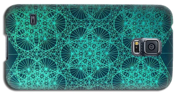 Galaxy S5 Case featuring the drawing Fractal Interference by Jason Padgett