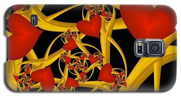 Fractal Love Ist Gold Galaxy S5 Case