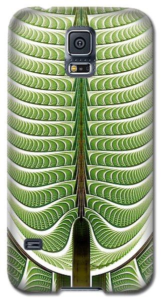 Galaxy S5 Case featuring the digital art Fractal Pine by Anastasiya Malakhova