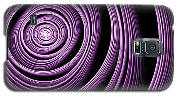 Fractal Purple Swirl Galaxy S5 Case