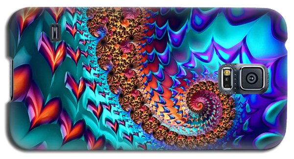 Fractal Sea Of Love With Hearts Galaxy S5 Case