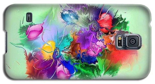 Fractured Bouquet 7 Galaxy S5 Case by John Krakora