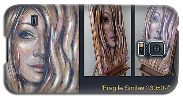 Galaxy S5 Case featuring the painting Fragile Smiles 230509 Comp by Selena Boron