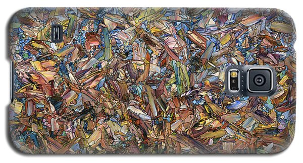 Galaxy S5 Case featuring the painting Fragmented Fall by James W Johnson