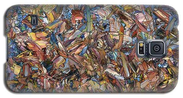 Galaxy S5 Case featuring the painting Fragmented Fall - Square by James W Johnson