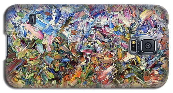 Galaxy S5 Case featuring the painting Fragmented Garden by James W Johnson