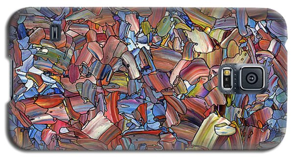 Galaxy S5 Case featuring the painting Fragmented Rose by James W Johnson