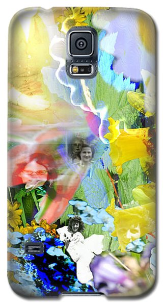 Galaxy S5 Case featuring the digital art Framed In Flowers by Cathy Anderson
