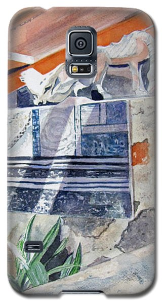 Galaxy S5 Case featuring the painting Frank Lloyd Wright Taliesin West 2 by Carol Flagg