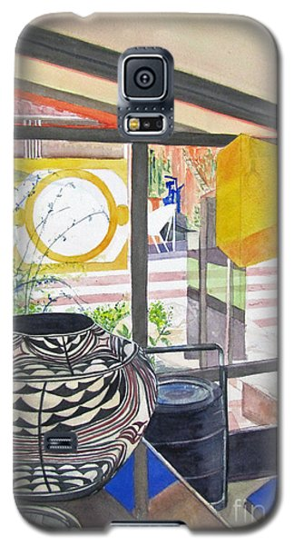 Galaxy S5 Case featuring the painting Frank Lloyd Wright Taliesin West by Carol Flagg