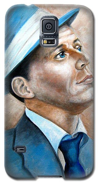 Galaxy S5 Case featuring the painting Frank Sinatra Ol Blue Eyes by Patrice Torrillo