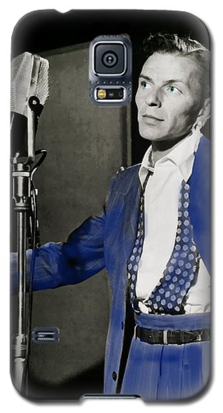 Galaxy S5 Case featuring the photograph Frank Sinatra - Old Blue Eyes by Ericamaxine Price