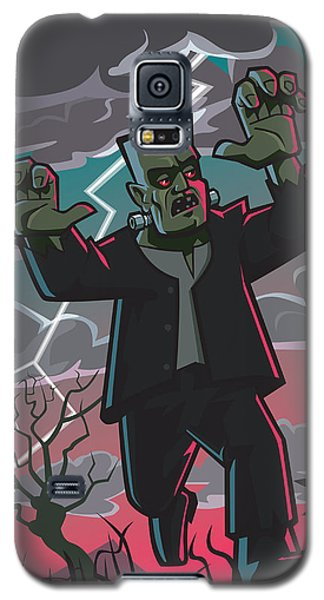 Frankenstein Creature In Storm  Galaxy S5 Case