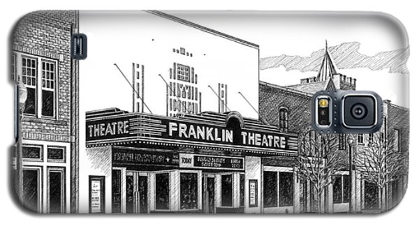 Galaxy S5 Case featuring the drawing Franklin Theatre In Franklin Tn by Janet King