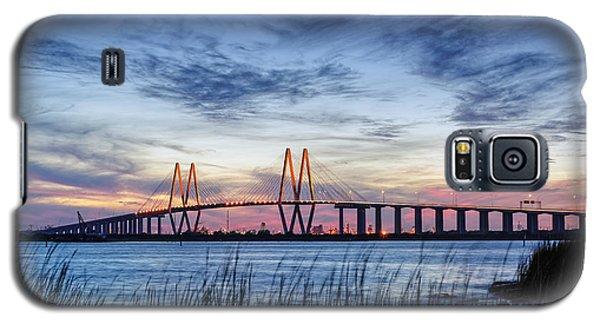 Fred Hartman Bridge At Twilight Hour Galaxy S5 Case