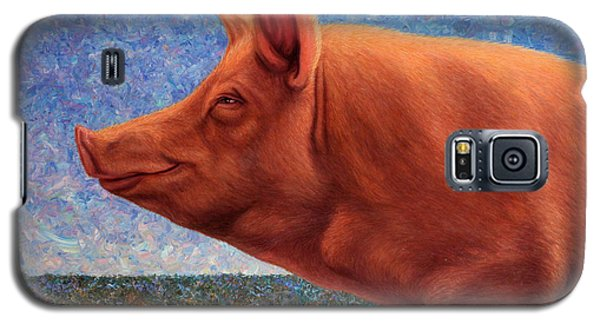 Free Range Pig Galaxy S5 Case by James W Johnson
