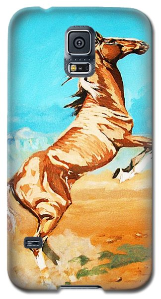 Galaxy S5 Case featuring the painting Free Spirit by Al Brown
