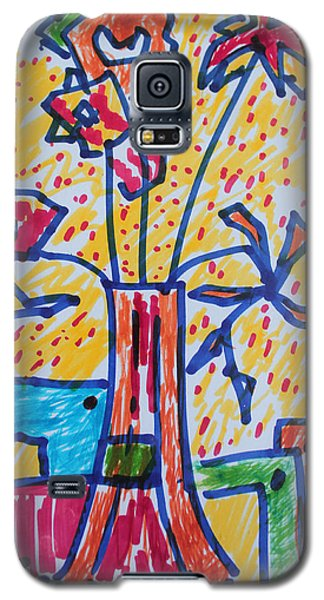 Galaxy S5 Case featuring the painting Freedom In Confinement by Rosemary Colyer