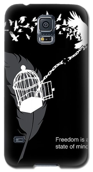 Crow Galaxy S5 Case - Freedom Is A State Of Mind by Sassan Filsoof