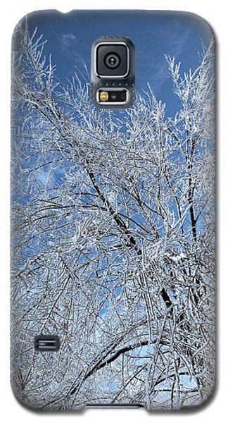 Galaxy S5 Case featuring the photograph Freezing Rain ... by Juergen Weiss