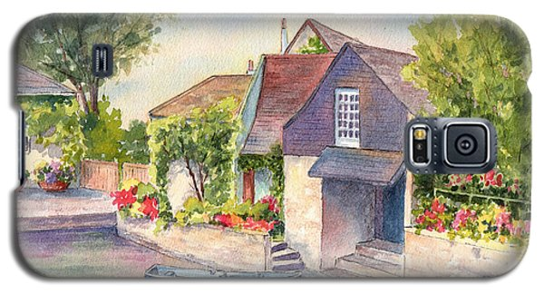Galaxy S5 Case featuring the painting French Boathouse  Azay Le Rideau by Vikki Bouffard