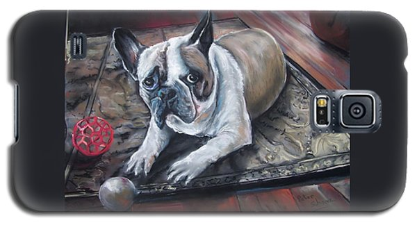 french Bull dog Galaxy S5 Case by Peter Suhocke
