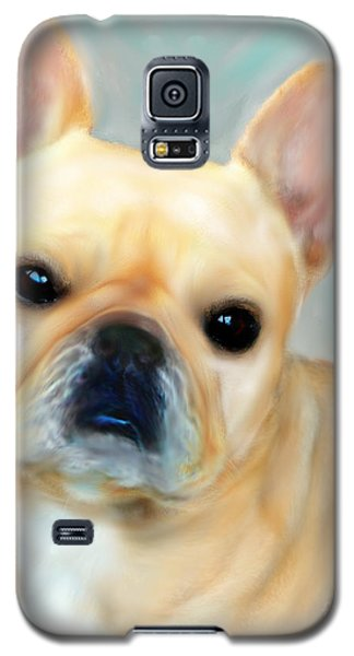 Galaxy S5 Case featuring the painting French Bulldog Mystique D'or by Barbara Chichester