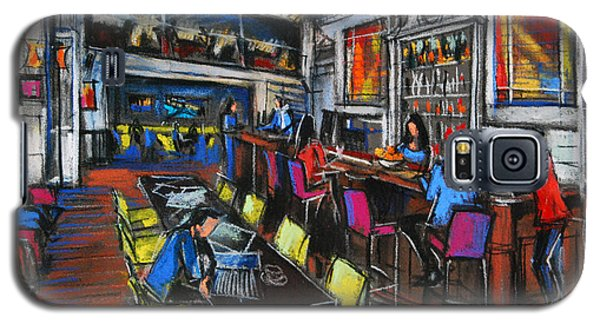 French Cafe Interior Galaxy S5 Case