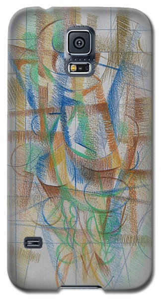 Galaxy S5 Case featuring the digital art French Curves 3 by Clyde Semler