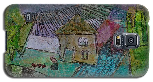 Galaxy S5 Case featuring the mixed media French Farm by Catherine Redmayne