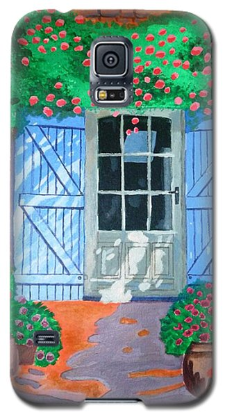 Galaxy S5 Case featuring the painting French Farm Yard by Magdalena Frohnsdorff