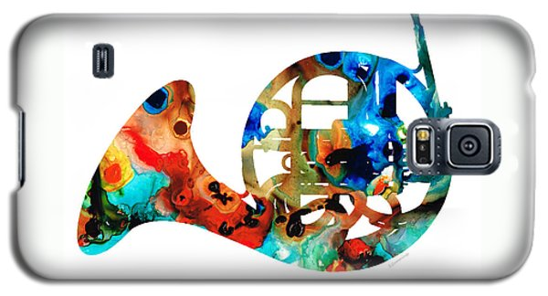 French Horn - Colorful Music By Sharon Cummings Galaxy S5 Case by Sharon Cummings