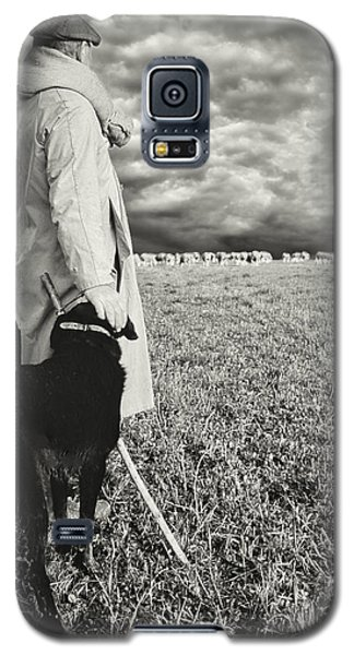 French Shepherd - B W Galaxy S5 Case by Chuck Staley