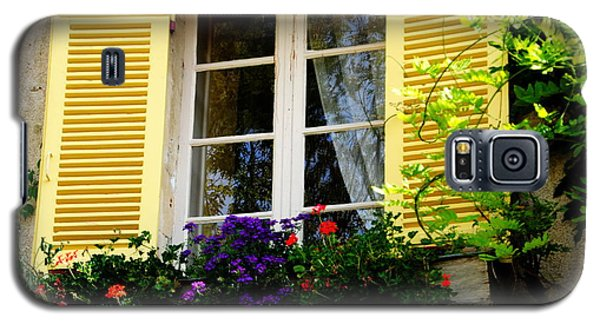 Galaxy S5 Case featuring the photograph French Window Dressing by Jacqueline M Lewis