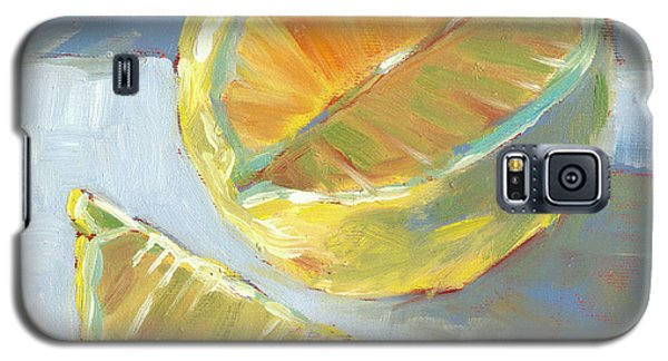 Galaxy S5 Case featuring the painting Fresh Lemons by Pam Talley