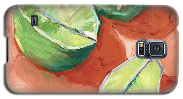 Galaxy S5 Case featuring the painting Fresh Limes by Pam Talley