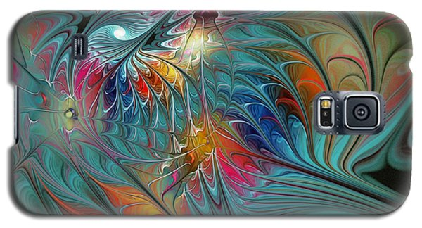 Fresh Mints And Cool Blues-abstract Fractal Art Galaxy S5 Case
