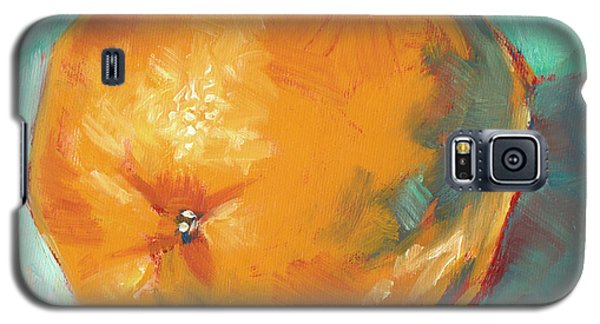 Galaxy S5 Case featuring the painting Fresh Orange by Pam Talley