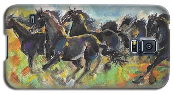 Galaxy S5 Case featuring the painting Fresian Glory by Mary Armstrong