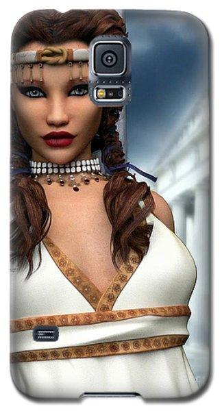 Galaxy S5 Case featuring the digital art Freya by Sandra Bauser Digital Art