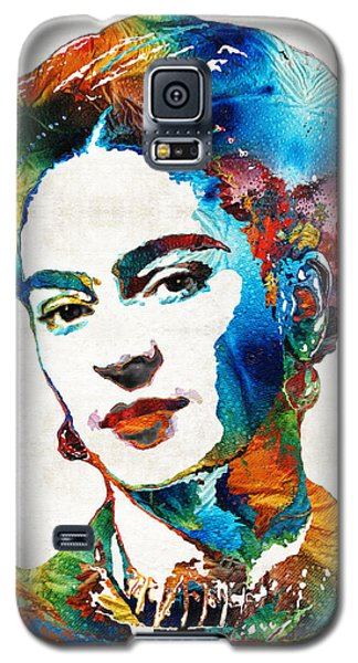 Portraits Galaxy S5 Case - Frida Kahlo Art - Viva La Frida - By Sharon Cummings by Sharon Cummings