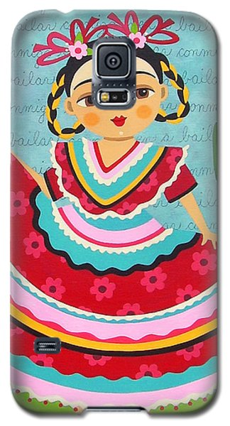 Galaxy S5 Case Featuring The Painting Frida Kahlo In Traditional Dress By LuLu Mypinkturtle