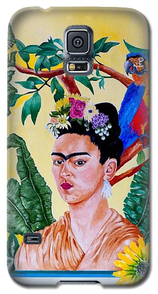 Frida Kahlo Galaxy S5 Case by Thomas Gronowski