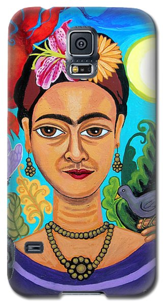 Frida Kahlo With Monkey And Bird Galaxy S5 Case