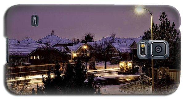 Galaxy S5 Case featuring the photograph Friday Night Lights by Nancy Marie Ricketts