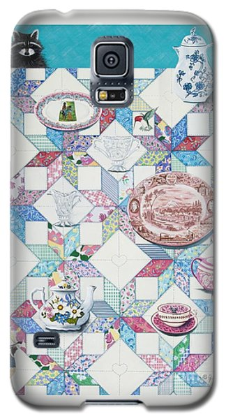 Galaxy S5 Case featuring the painting Friends Come To Tea by Jennifer Lake