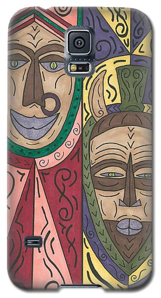 Galaxy S5 Case featuring the painting Friends by Susie Weber