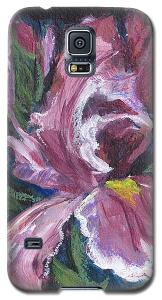 Frilly Pink Flower Of Iris Ilk Galaxy S5 Case