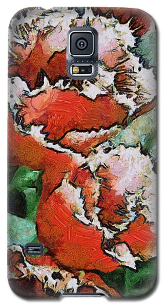 Galaxy S5 Case featuring the photograph Fringed Tulips by Gerry Bates